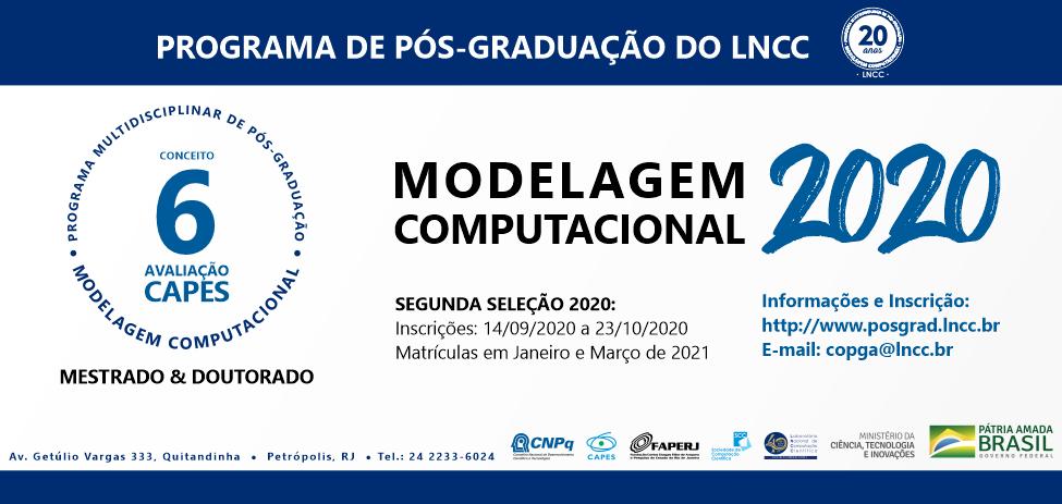Pós-Graduação em Modelagem Computacional do LNCC - Segunda seleção para Mestrado e Doutorado