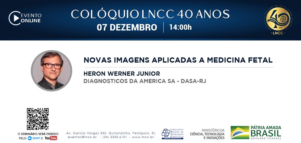 Seminário LNCC 40 anos: última palestra da série comemorativa oferecida pelo LNCC acontece dia 7 de dezembro